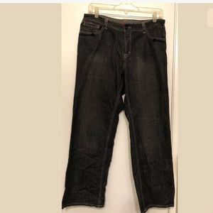 Venezia Black Wide-Legged Jeans